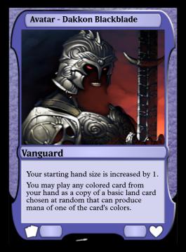 Avatar - Dakkon Blackblade
